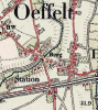 Stafkaart station Oeffelt